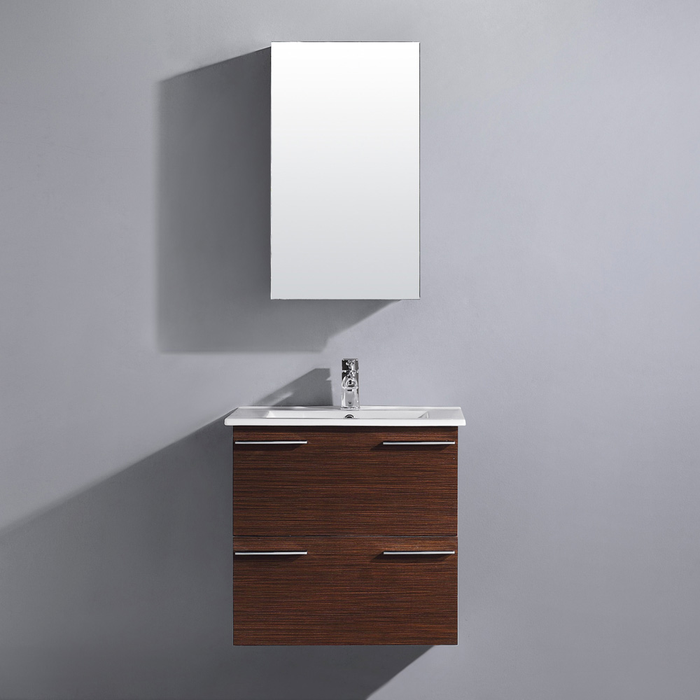 "24"" Ophelia Wall-Mount Vanity with matching medicine cabinet"