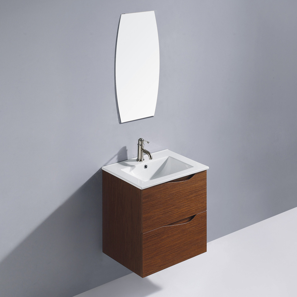 "24"" Suzuetta Wall-Mount Vanity with matching mirror"