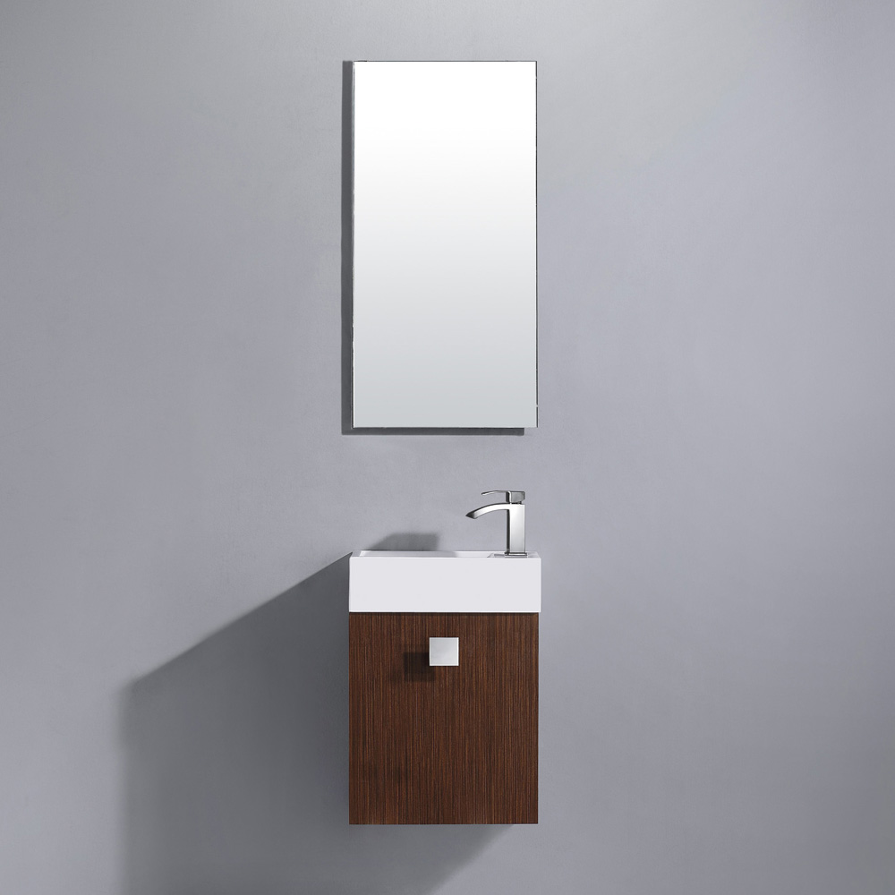 "15.75"" Marina Wall-Mount Vanity with matching mirror"