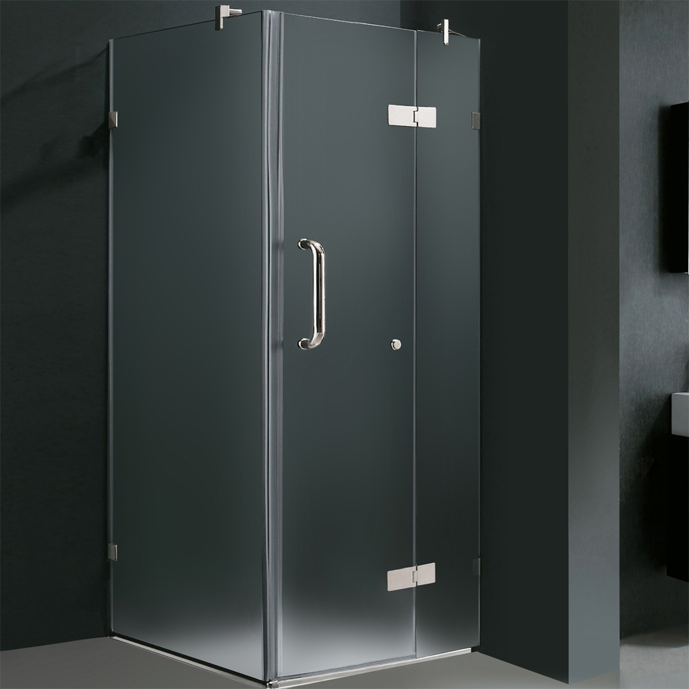 Shown With Frosted Glass (Right Side Configuration) and Chrome Finish