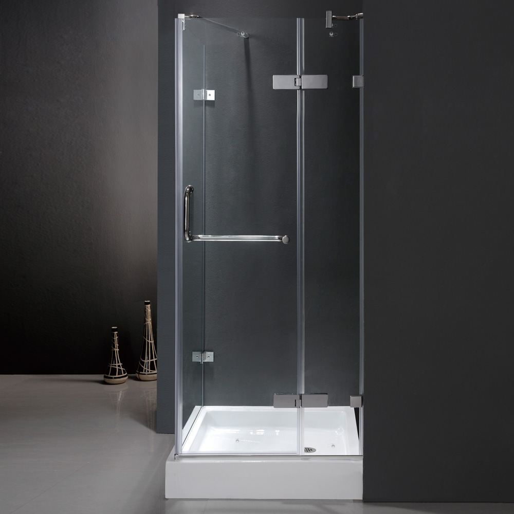 Shown With Clear Glass and Chrome Finish And Optional Base