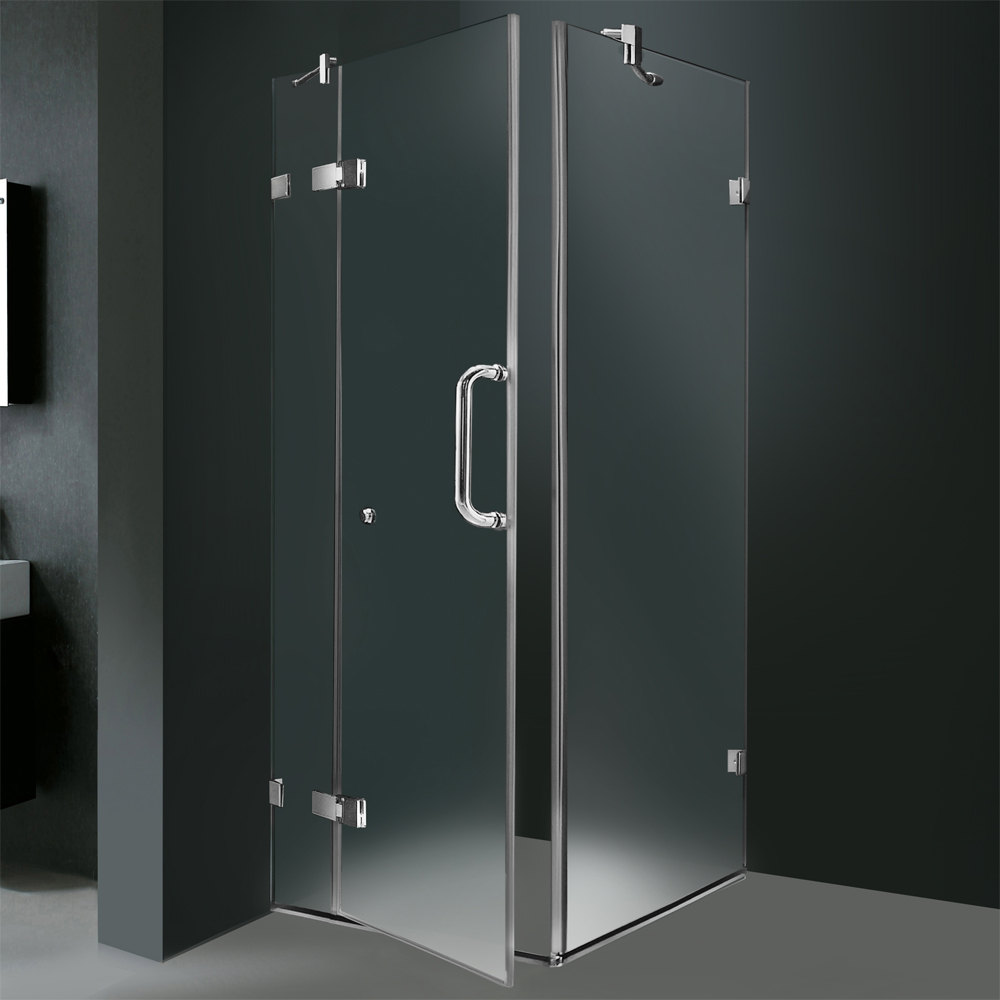 Shown With Frosted Glass (Left Side Configuration) and Chrome Finish