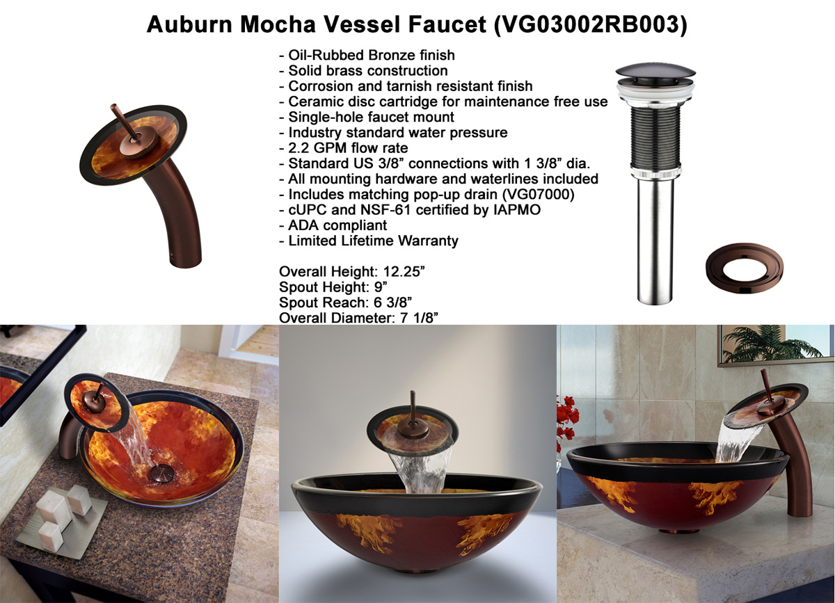 Faucet Option 3: Waterfall Faucet in Oil-Rubbed Bronze (VGT003RBRND)