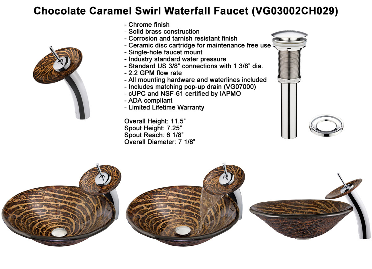 Faucet Option 3: Waterfall Faucet in Oil-Rubbed Bronze (VGT029RBRND)