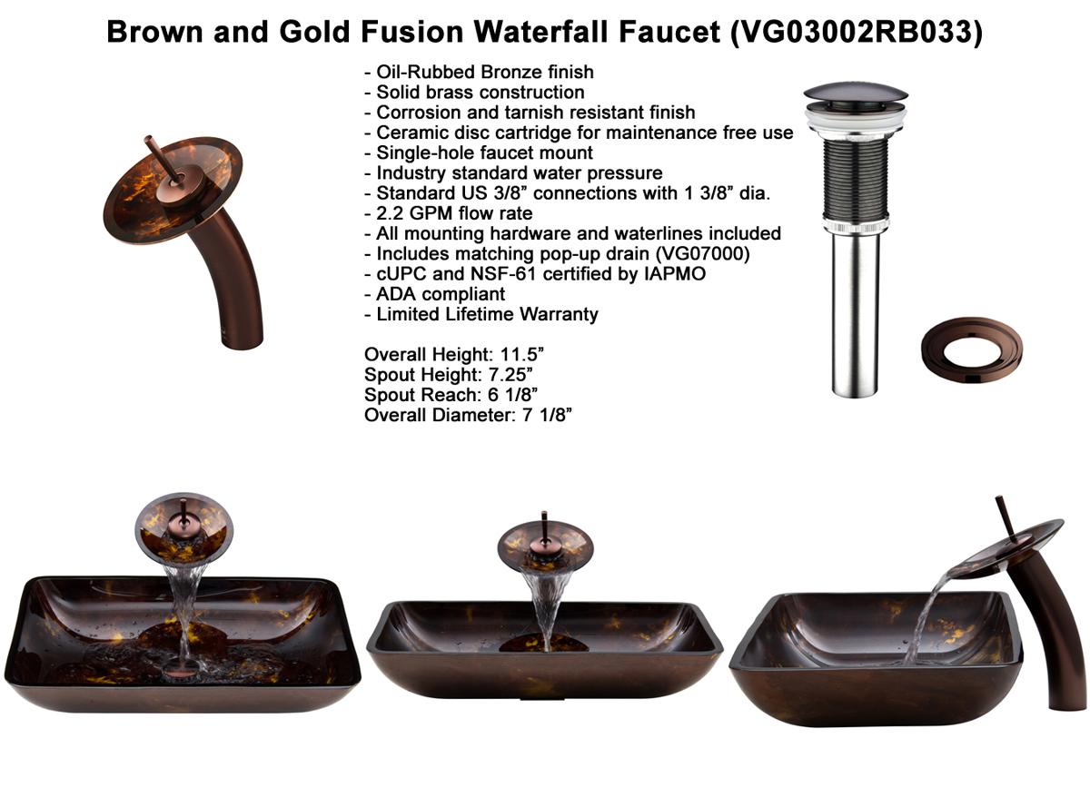 Faucet Set 1 - Waterfall Faucet in Chrome (VGT033CHRND)