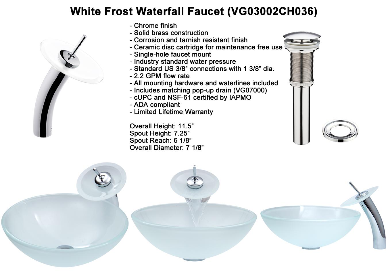 Faucet Set 1 - Waterfall Faucet in Chrome (VGT036CHRND)