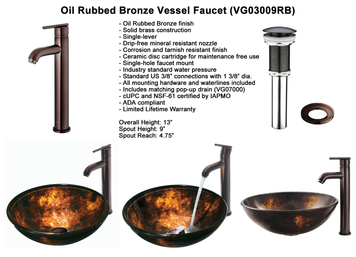 Waterfall Faucet 3: Oil-Rubbed Bronze Vessel Faucet (VGT101)