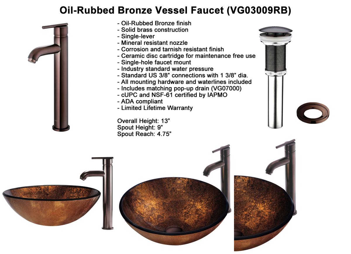 Faucet Set 5 - Vessel Faucet in Oil-Rubbed Bronze (VGT128)