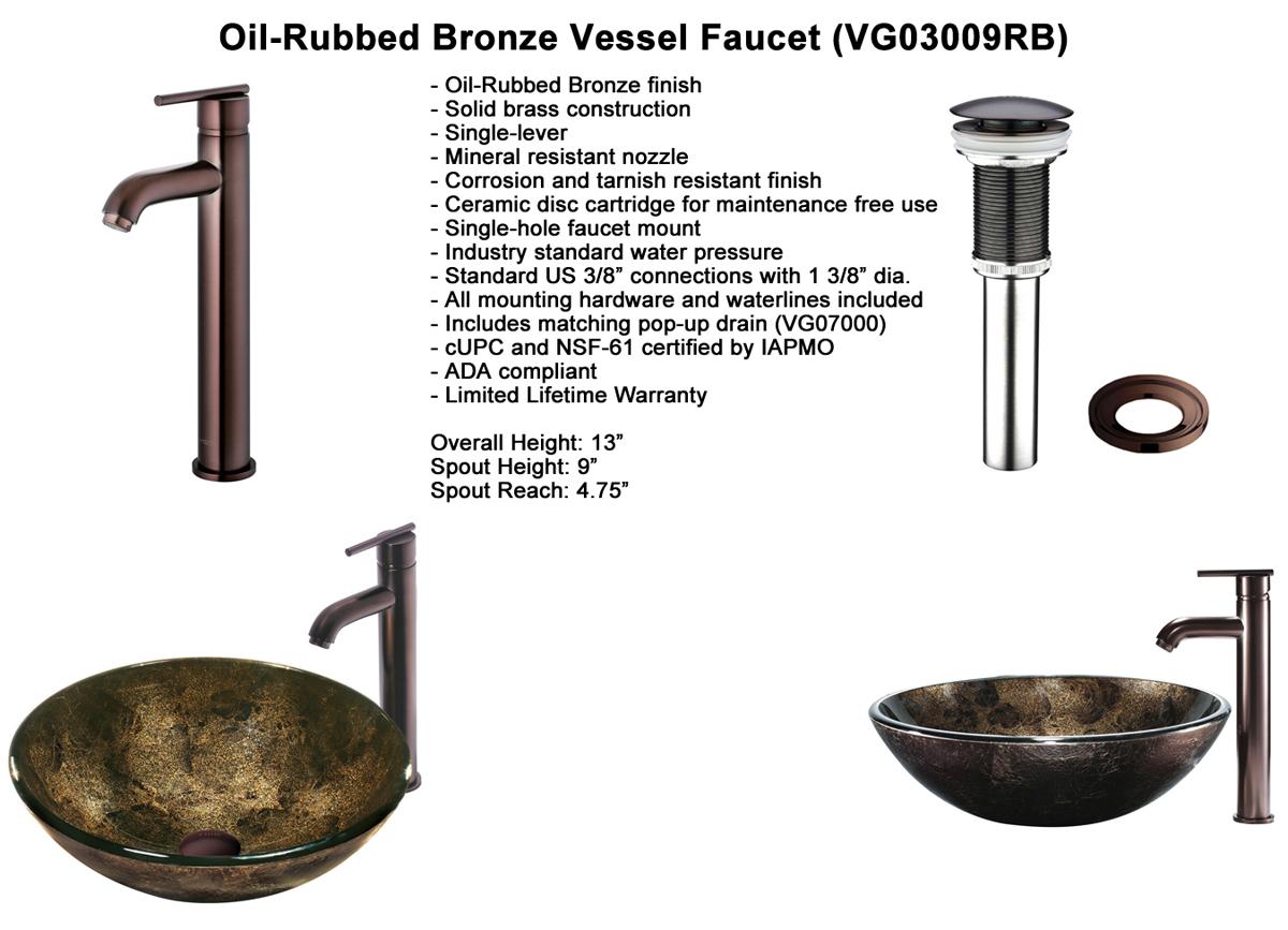 Faucet Set 2 - Vessel Faucet in Oil-Rubbed Bronze (VGT129)