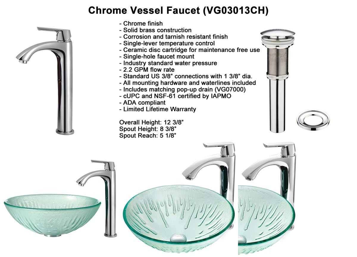 Faucet Option 3: Chrome Vessel Faucet (VGT132)