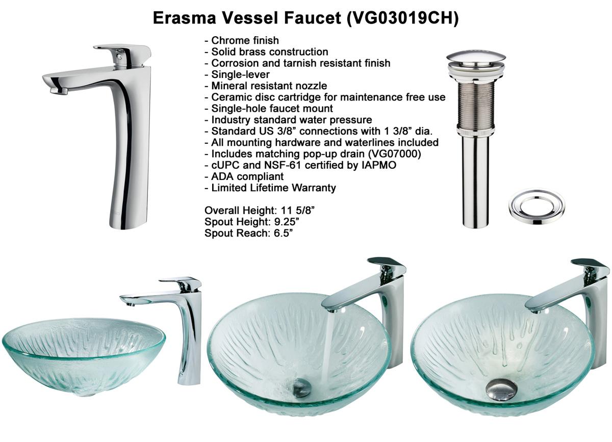 Faucet Option 4: Erasma Vessel Faucet (VGT138)
