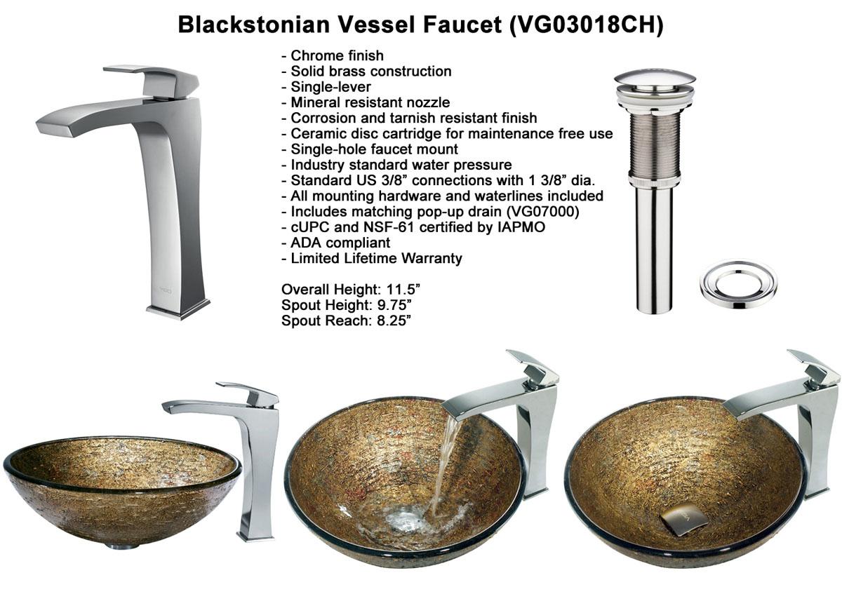 Faucet Option 4: Blackstonian Vessel Faucet (VGT139)