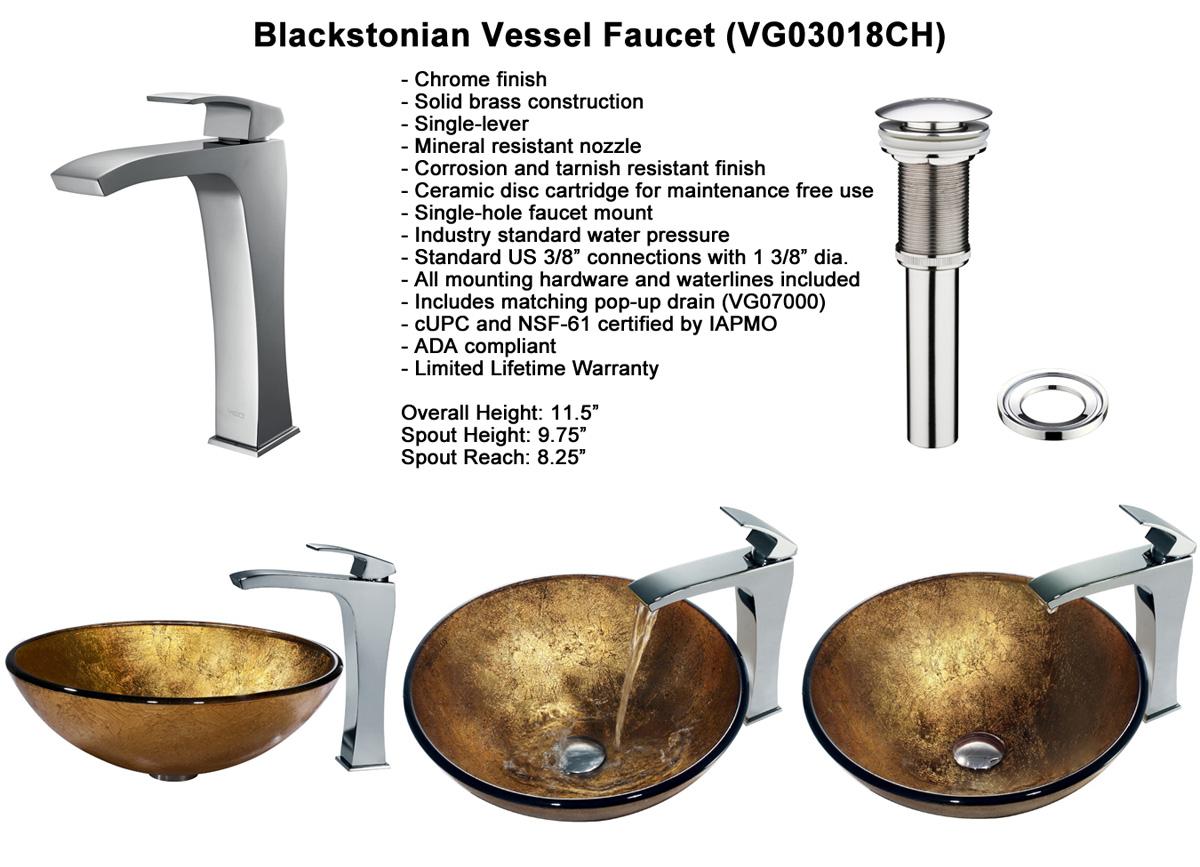 Faucet Option 4: Blackstonian Vessel Faucet (VGT140)