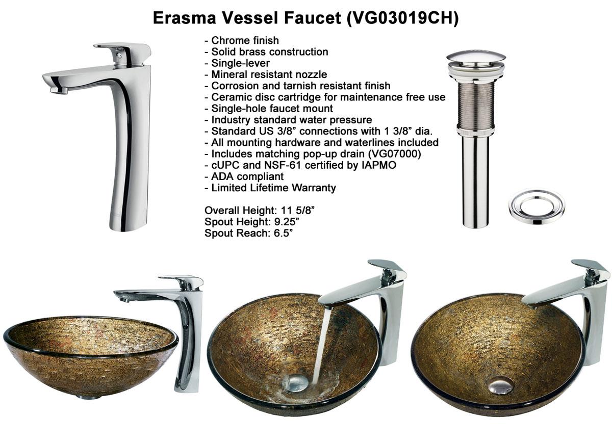 Faucet Option 5: Erasma Vessel Faucet (VGT142)