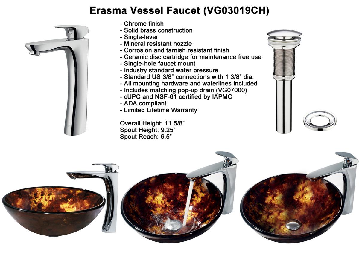 Faucet Option 4: Erasma Vessel Faucet (VGT143)