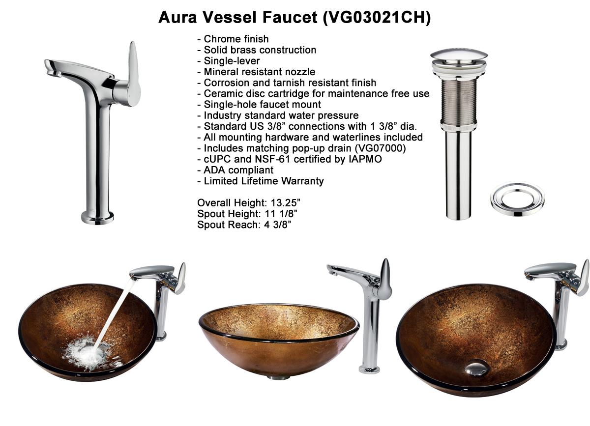 Faucet Set 8 - Aura Vessel Faucet (VGT158)