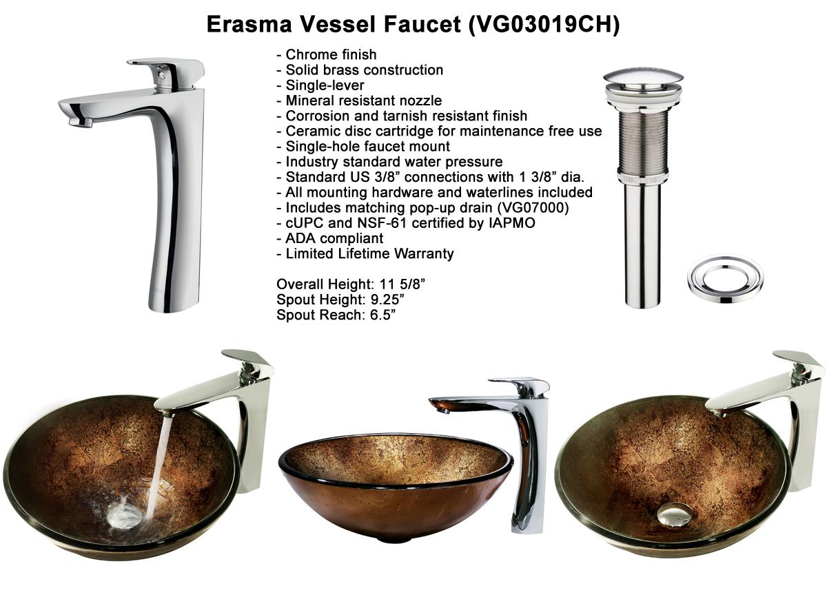 Faucet Set 9 - Erasma Vessel Faucet (VGT159)
