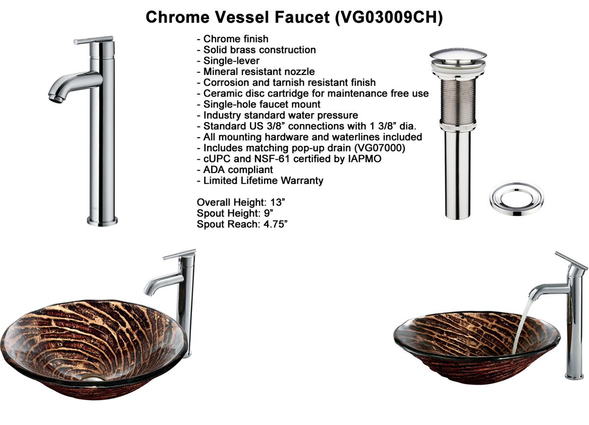 Faucet Option 5: Oil-Rubbed Bronze Vessel Faucet (VGT168)