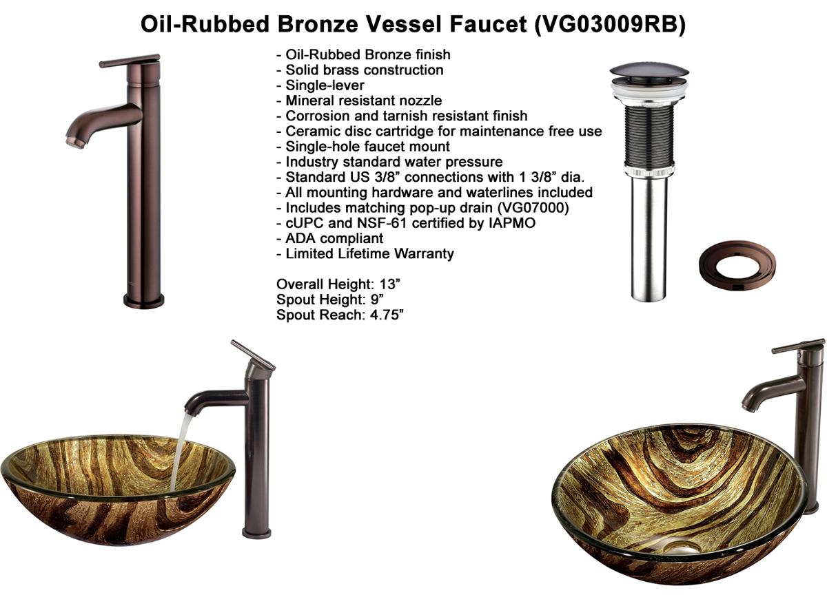 Faucet Option 4: Oil-Rubbed Vessel Faucet (VGT167)
