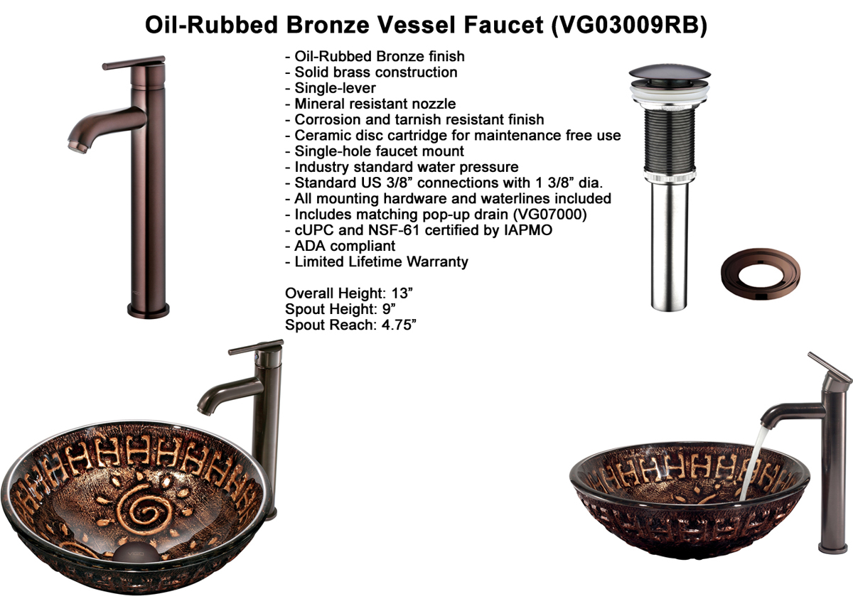 Faucet Option 3: Oil-Rubbed Vessel Faucet (VGT169)
