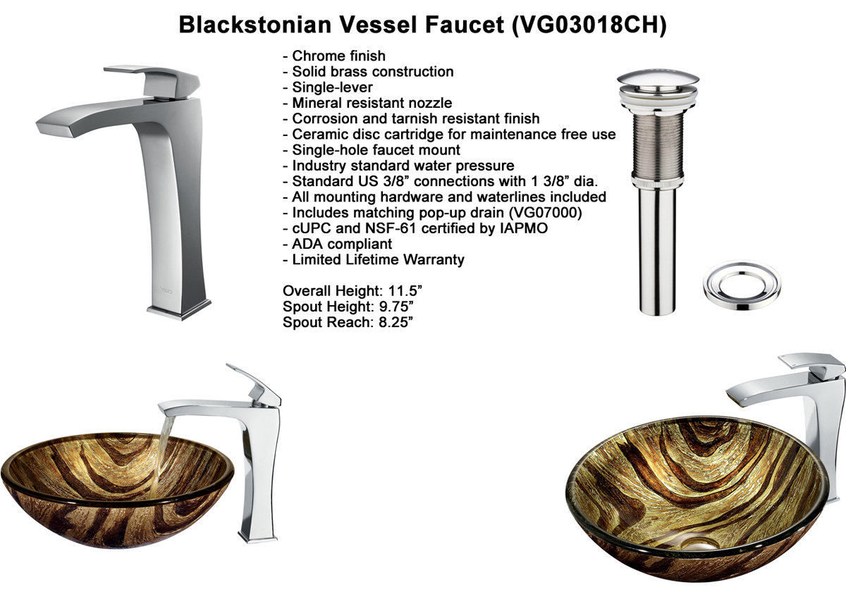 Faucet Option 5: Blackstonian Vessel Faucet (VGT178)