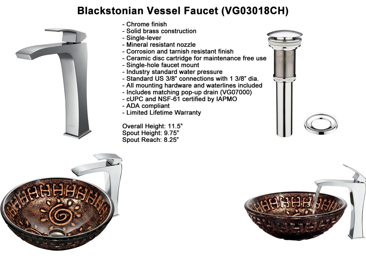 Faucet Option 4: Blackstonian Vessel Faucet (VGT180)