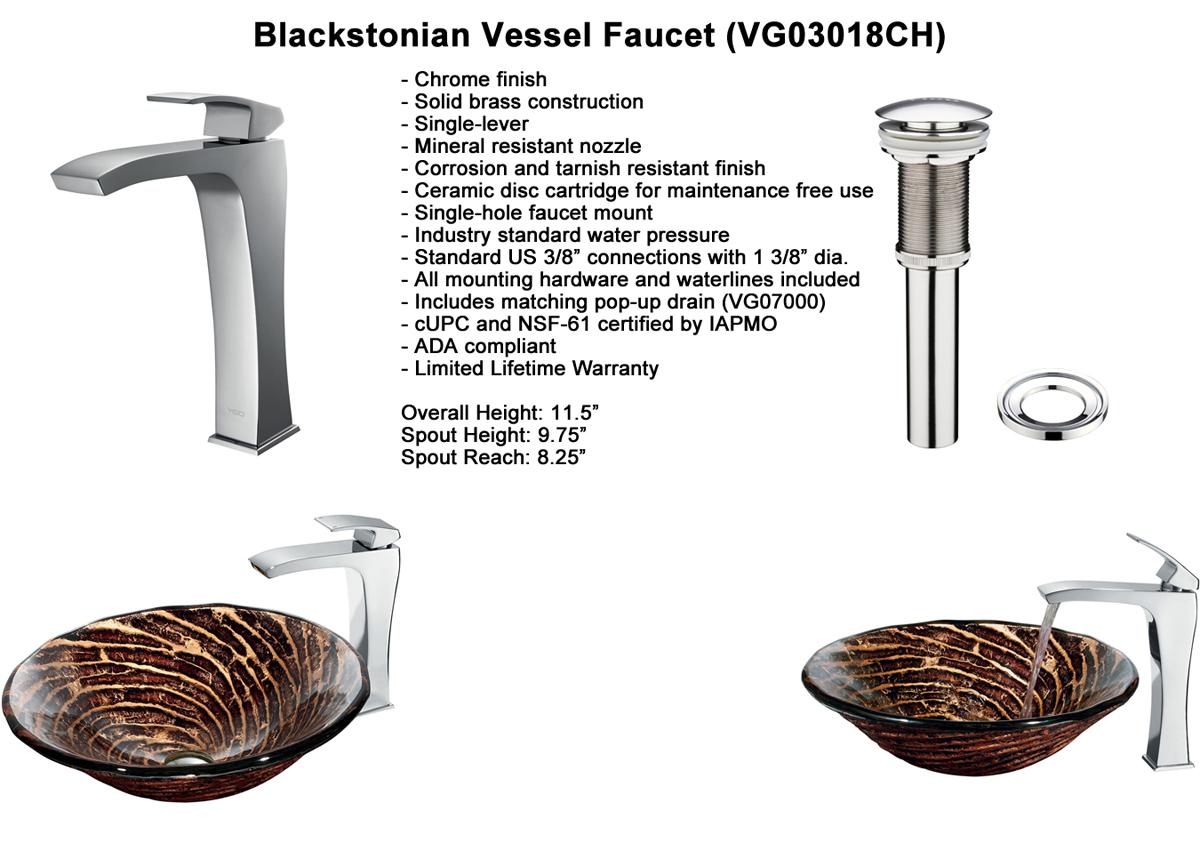 Faucet Option 7: Erasma Vessel Faucet (VGT188)