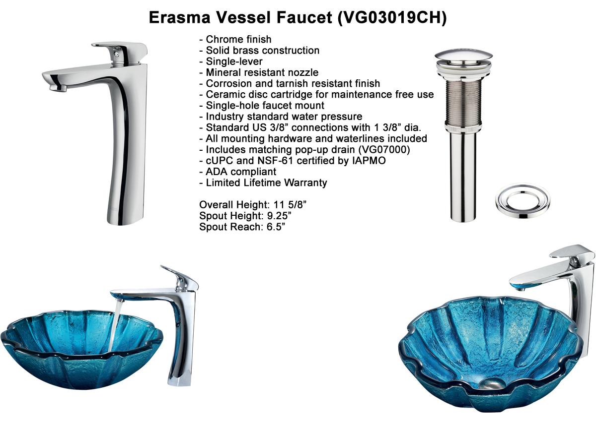 Faucet Option 6: Erasma Vessel Faucet (VGT186)