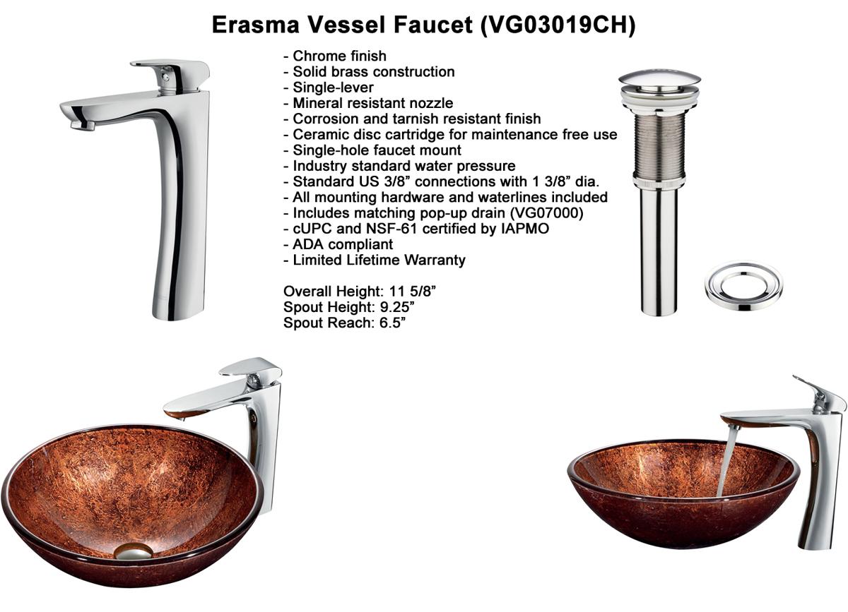 Faucet Option 6: Erasma Vessel Faucet (VGT190)