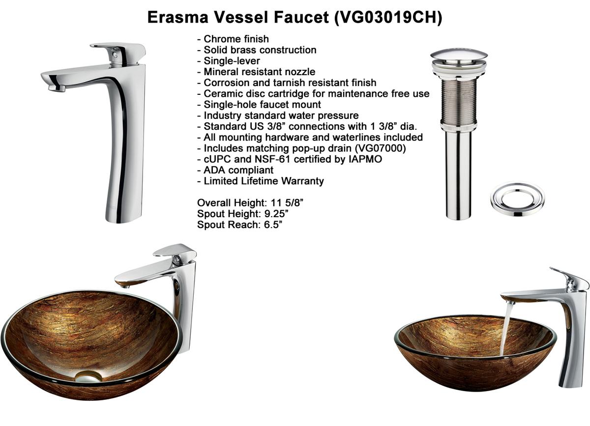 Faucet Option 7: Erasma Vessel Faucet (VGT192)
