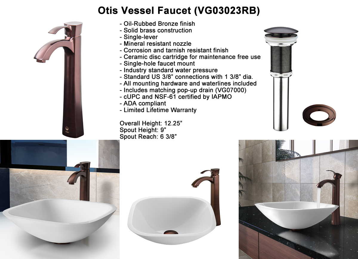 Faucet Set 1 - Otis Vessel Faucet in Oil-Rubbed Bronze (VGT204)