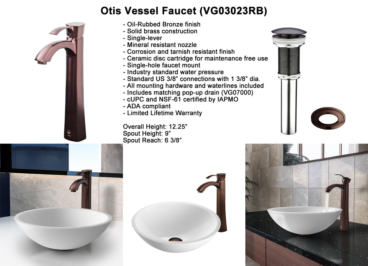 Faucet Set 1 - Otis Vessel Faucet in Oil-Rubbed Bronze (VGT208)