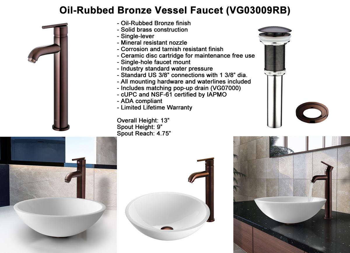 Faucet Set 3 - Vessel Faucet in Oil-Rubbed Bronze (VGT210)