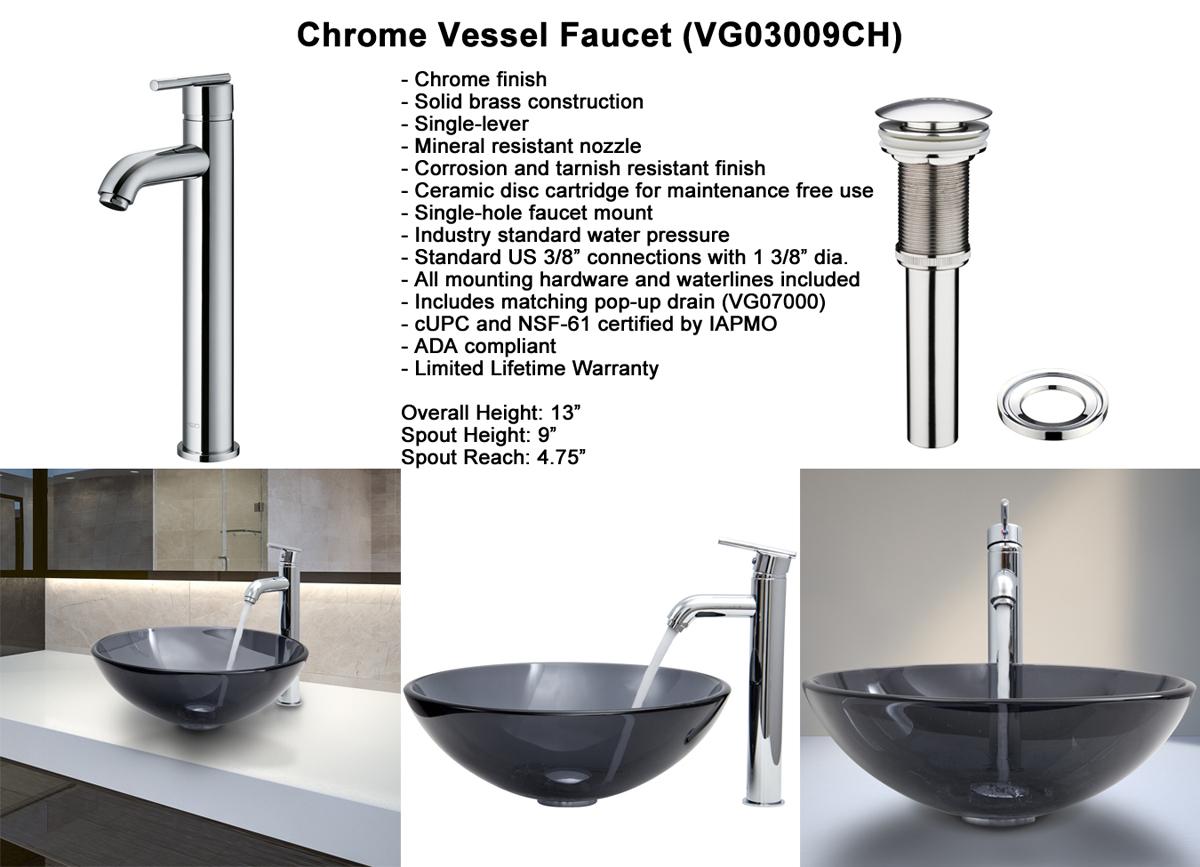 Faucet Set 5 - Chrome Vessel Faucet (VGT256)