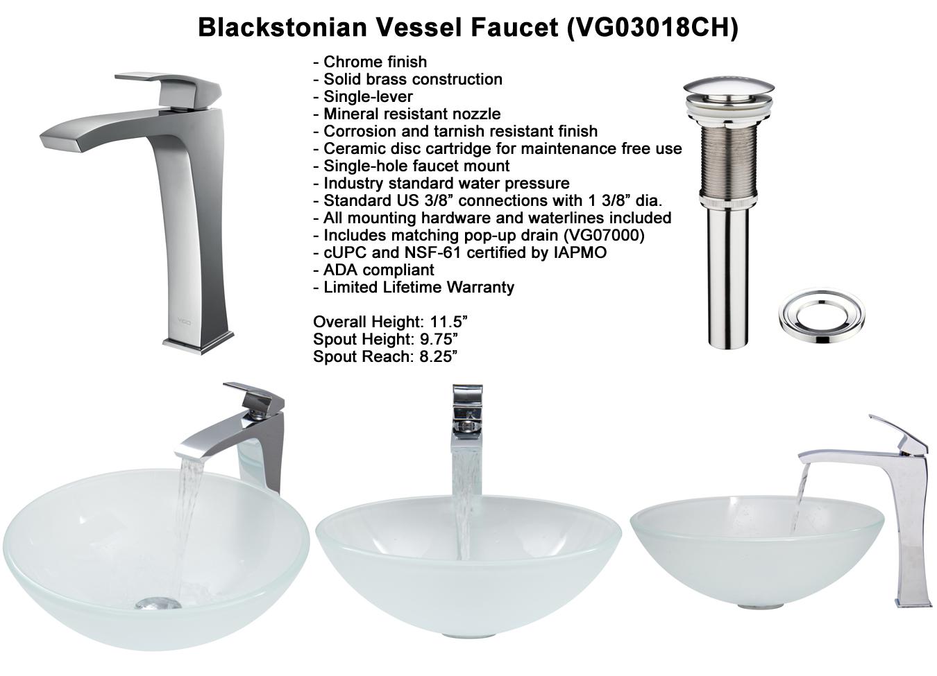 Faucet Set 4 - Blackstonian Vessel Faucet (VGT267)