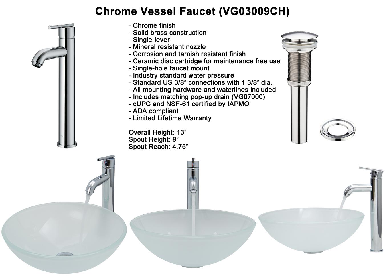 Faucet Set 5 - Chrome Vessel Faucet (VGT269)
