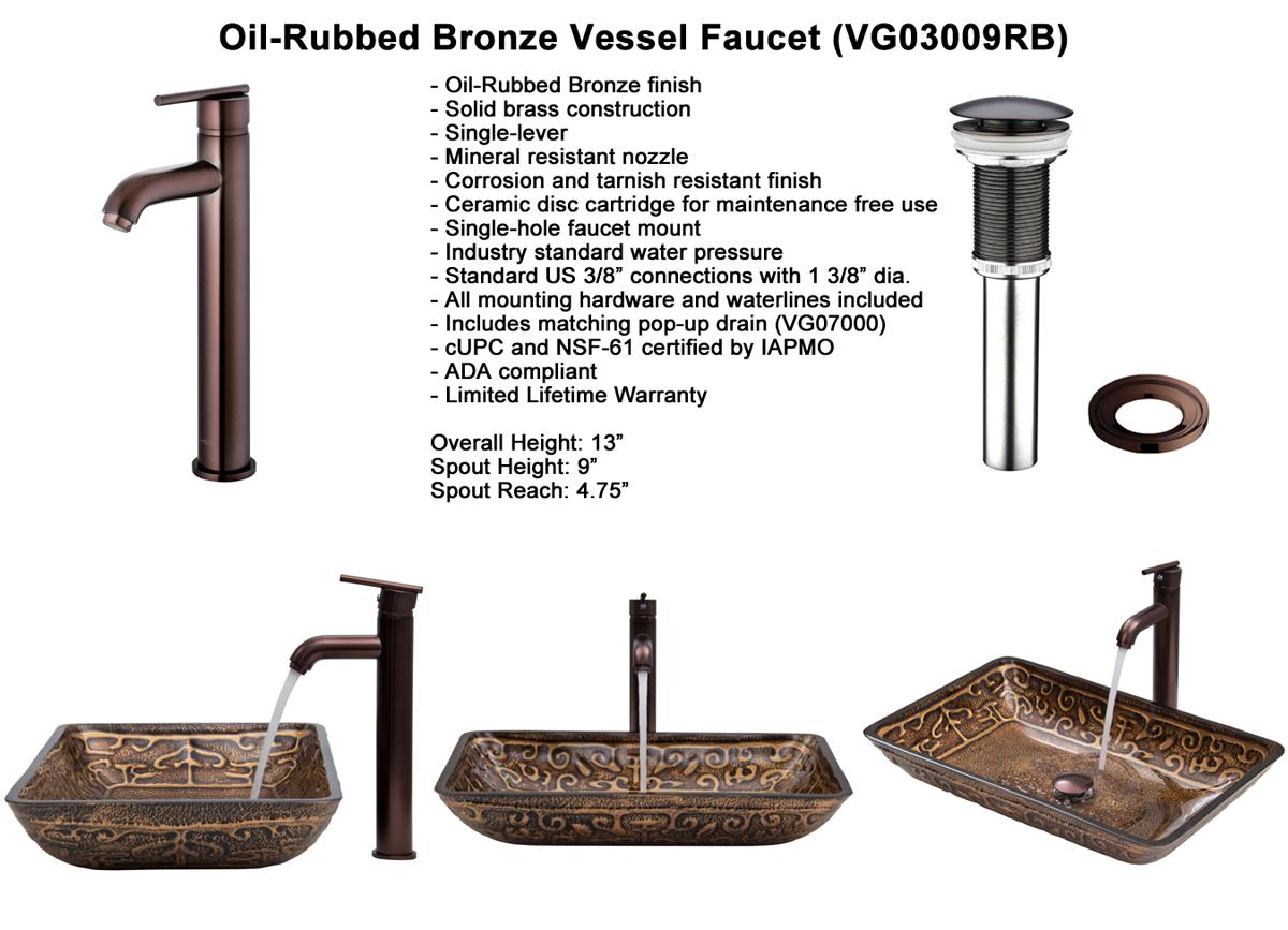 Faucet Set 3 - Vessel Faucet in Oil-Rubbed Bronze (VGT284)