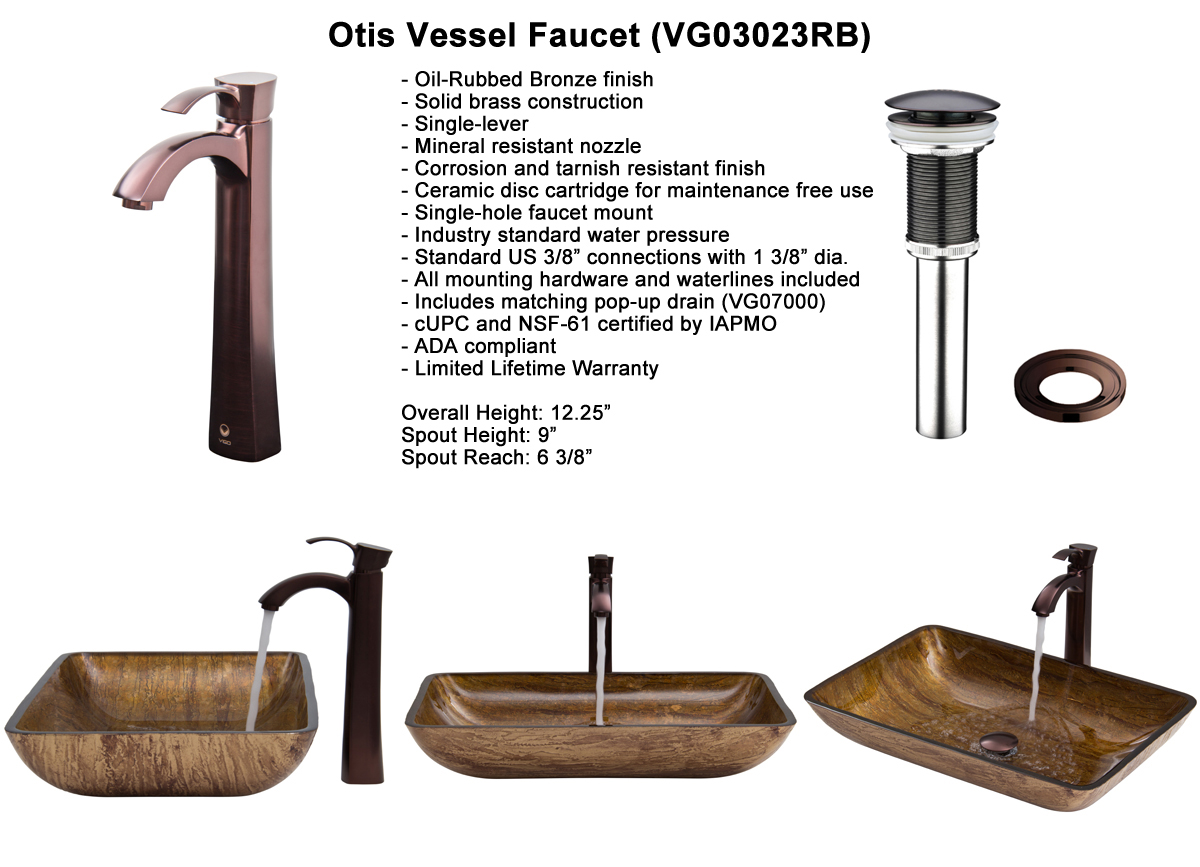 Faucet Set 4 - Otis Vessel Faucet in Oil-Rubbed Bronze (VGT293)