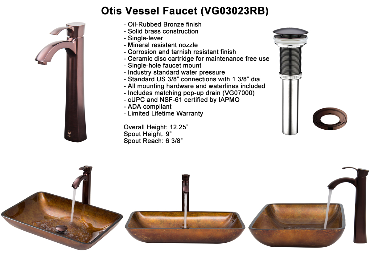 Faucet Set 3 - Vessel Faucet in Oil-Rubbed Bronze (VGT300)