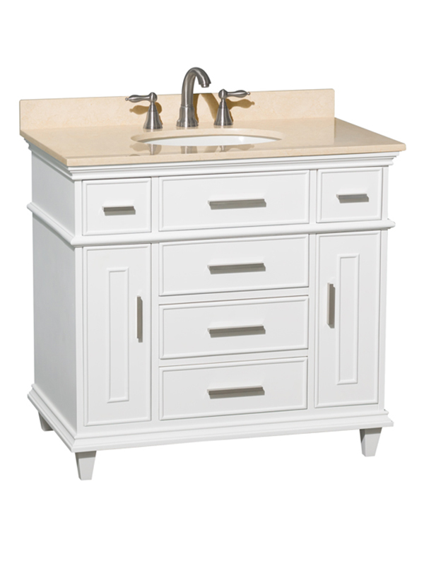 "36"" Berkeley Single Bath Vanity - Shown With Cream Marble Top"