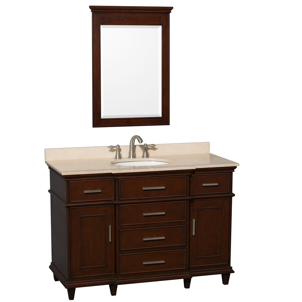 Cream Marble Top - Shown With Small Mirror