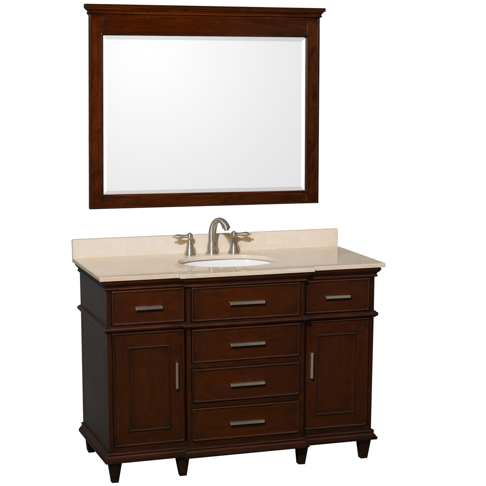 Cream Marble Top - Shown With Large Mirror
