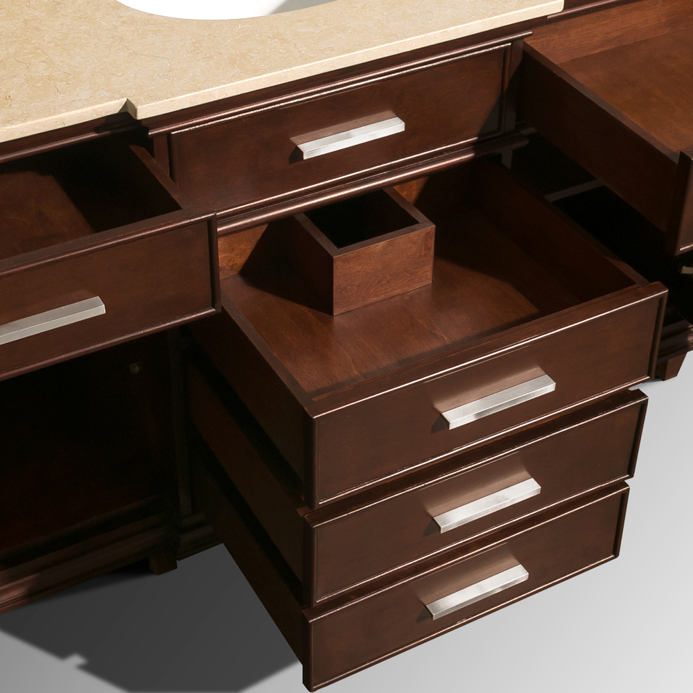 Five Soft-Closing Drawers