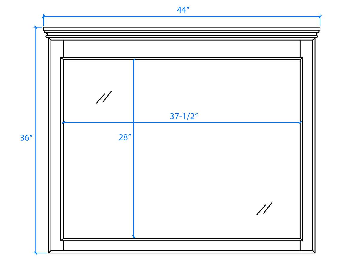 Small Mirror - Dimensions
