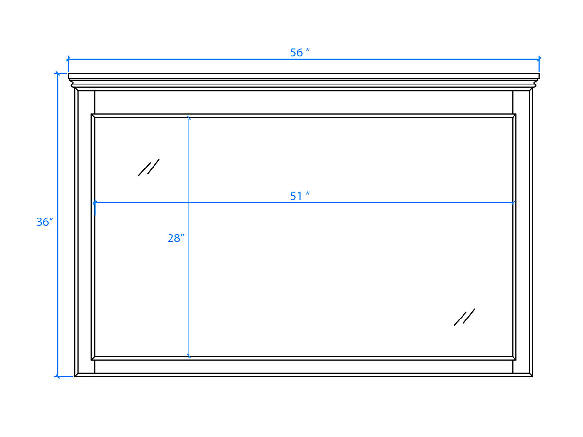 Large Mirror - Dimensions