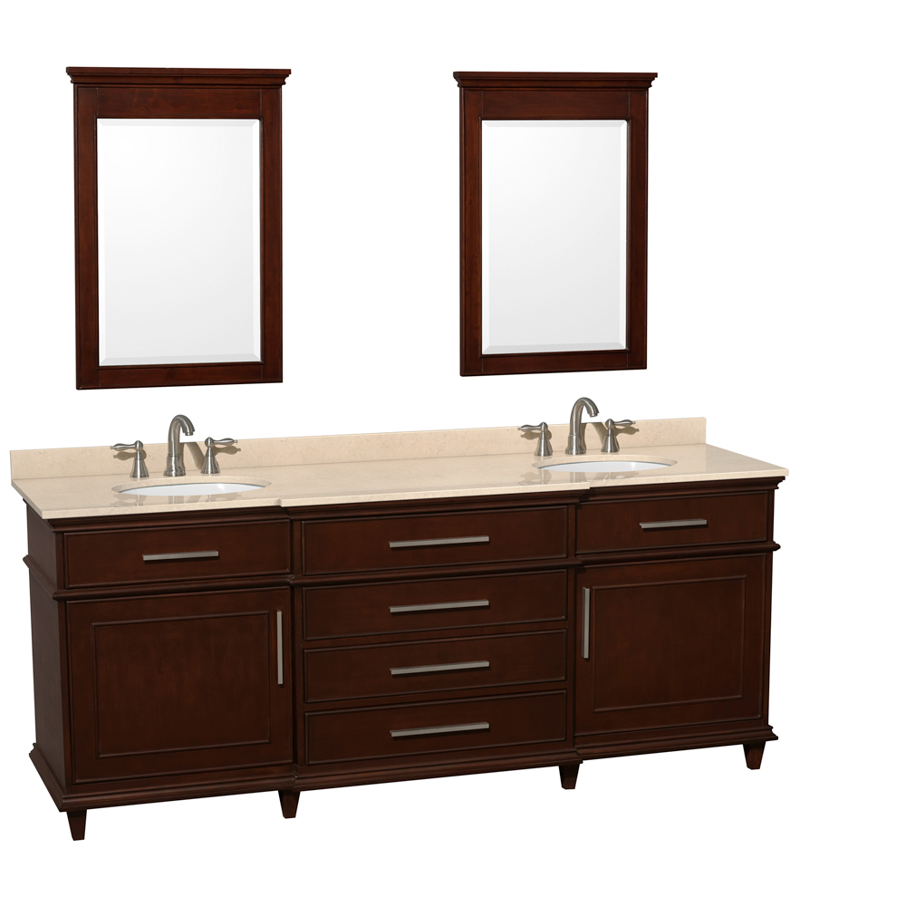 Cream Marble Top - Shown With Small Mirrors