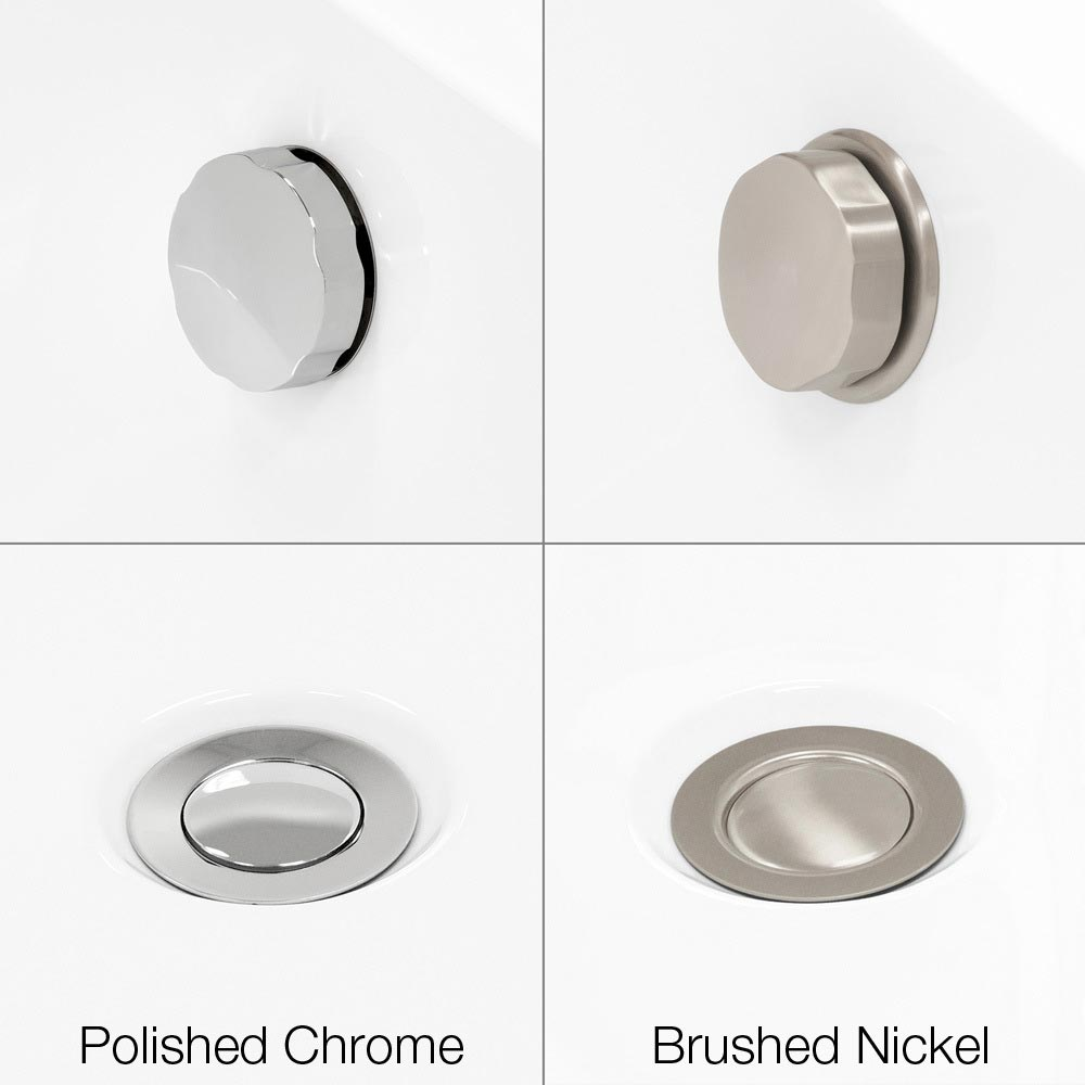 Brushed Nickel or Polished Chrome Hardware