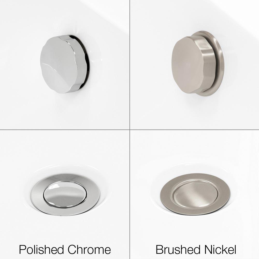Brushed Nickel or Polished Chrome Hardware