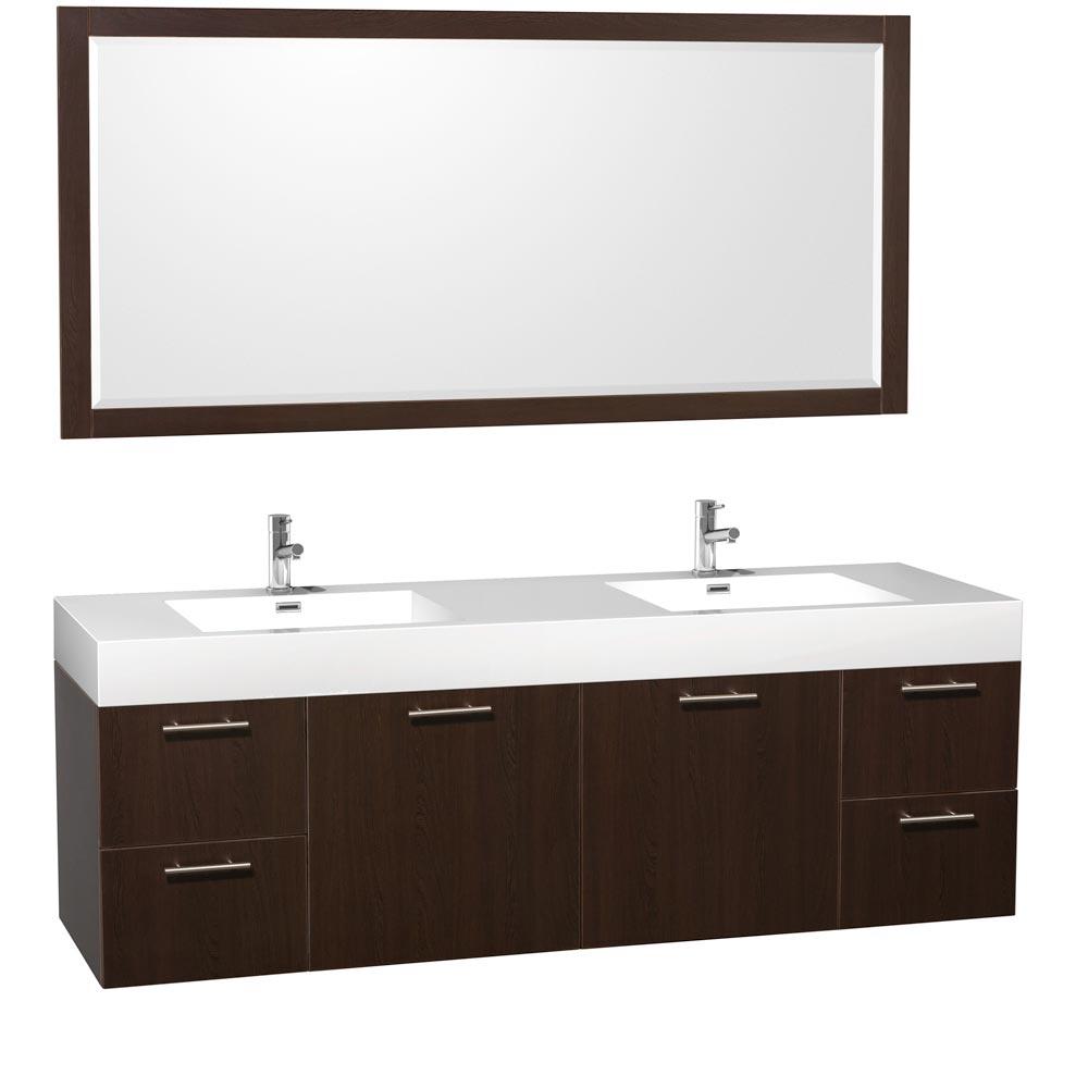 "72"" Amare Double Sink Vanity - Espresso"