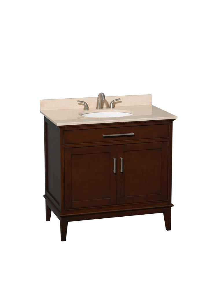 Ivory Marble Top with Round Sink
